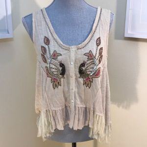 Free People Oversize crop tank size s